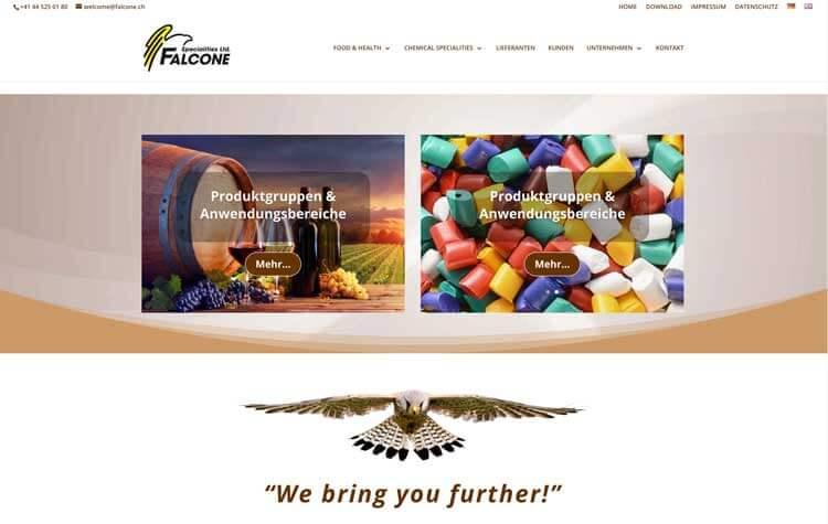 Modernisierung visueller Auftritt Falcone Specialities AG